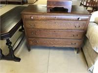Oak 4 Drawer Bureau