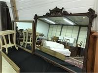 Mahogany Carved Framed Mirror