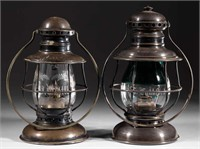 Rare presentation railroad lanterns