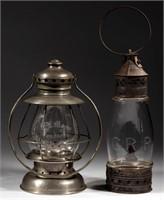 Presentation and engraved CRR railroad lanterns