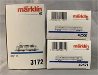 3pc Marklin HO DB Express Train Set
