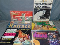 (6) Vintage Sports Related Board Games