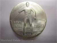 1978 Finland Lahti Ski Games Commemorative Coin