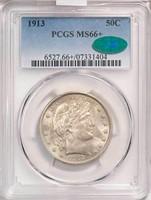 50C 1913 PCGS MS66+ CAC