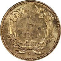 G$1 1870-S PCGS MS64+ CAC