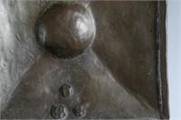 3 Roycroft hammered metal pieces.