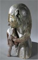 Mimmo Paladino, Senza Titolo, bronze, 1983.