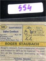1974 Roger Staubach Football Card