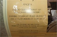 Angela Quilted Queen Coverlet Set w/Shams & Bedski