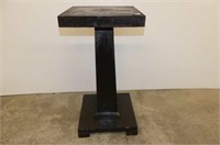 """14"""" Square Top Plant Stand     27.5""""H"""