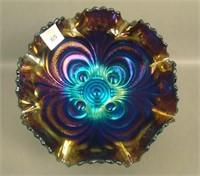 Imperial Elec. Purple Scroll Embossed Bowl