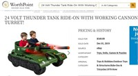 24 Volt Thunder Tank Ride-On With Working Cannon