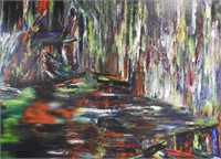 "Dale FRANK ""Corner of Studio"", Acrylic on canvas"
