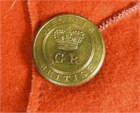 RARE CANADIAN MILITIA COATEE, WAR OF 1812