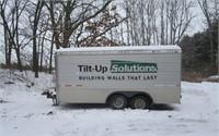 16' enclosed trailer (lot 19)