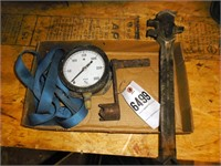 Bung wrench , engine crank, pressure gauge, etc