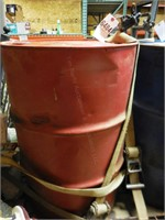 Partial Barrel of Hydraulic/Trans Oil & Stand