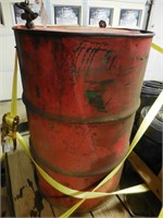 Partial Barrel of SAE 20/20 Oil & Stand