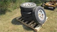 4pc Marathon ST225/75R15 Trailer Tires & Rims