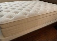 SOLID WOOD FULL BED; NIGHTSTANDS & SERTA MATTRESS