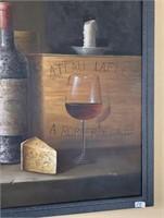 21 - SIGNED & FRAMED WINE WALL ART