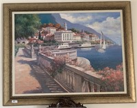 21 -SIGNED & FRAMED BEAUTIFUL OCEAN FRONT PROPERTY