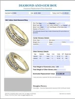 14KT YELLOW GOLD 1.50CTS DIAMOND RING