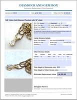14KT YELLOW GOLD .52CTS SINGLE STONE DIAMOND