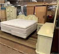 KING BEDROOM SET - BED;ARMOIRE;DRESSER;NIGHTSTAND