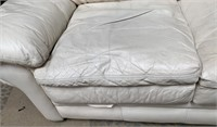 714 - WHITE LOVESEAT - SEE PICS FOR COND.