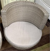 C - NEW GREY PAIR OF PATIO CHAIRS