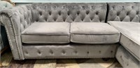 C - BEAUTIFUL NEW GREY COUCH W/CHAISE LOUNGE