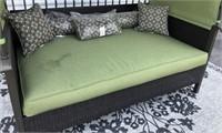 C - NEW GREEN CANOPY PATIO SLEEPER/SOFA