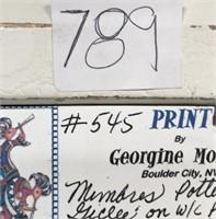 789 - PAIR OF BEAUTIFUL FRAMED MIMBRENOS ART