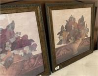 21 - PAIR OF FRAMED STILL LIFE OF FRUIT WALL ART
