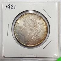 LOT OF TWO 1921 MORGAN SILVER DOLLARS (4)