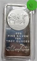 10 TROY OUNCES OF .999 FINE SILVER BAR (16)
