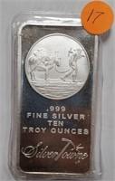 TEN TROY OUNCES .999 FINE SILVER (17)