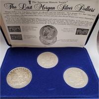 SET OF 3 SILVER MORGAN DOLLARS (13)