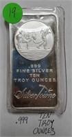 TEN TROY OUNCES .999 FINE SILVER (19)
