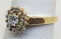 14KT YELLOW GOLD DIAMOND RING 2.30 GRS