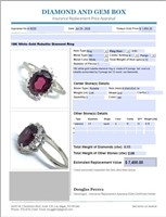 18KT WHITE GOLD 2.05CTS RUBELITE AND .15CTS DIA.