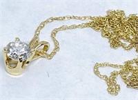14KT YELLOW GOLD .40CTS SINGLE STONE DIAMOND