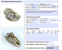 14KT YELLOW GOLD 1.10CTS DIAMOND RING FEATURES
