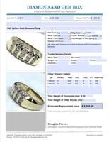 14KT YELLOW GOLD 1.00CTS MENS DIAMOND RING