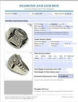 14KT WHITE GOLD ROLEX STYLE .80CTS DIAMOND