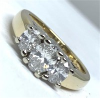 14KT YELLOW GOLD 1.15CTS DIAMOND RING FEATURES