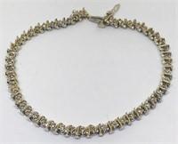 14KT YELLOW GOLD 1.00CTS DIAMOND BRACELET6.40 GRS