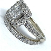 14KT WHITE GOLD 1.50CTS DIAMOND RING SET