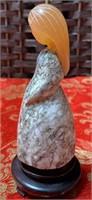 11 -BEAUTIFUL SERPENTINE LADY FIGURINE FROM RUSSIA